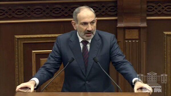 Выступление премьер-министра Никола Пашиняна в НС Армении (16 ноября 2020). Еревaн - Sputnik Армения
