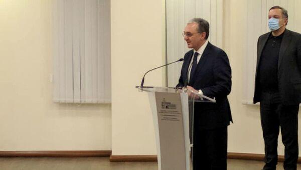 Речь министра иностранных дел Зограба Мнацаканяна перед коллегами после заявления об отставке (17 ноября 2020). Еревaн - Sputnik Արմենիա