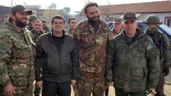 Президент НКР Араик Арутюнян посетил Лисагорскую общину Шушинского района (17 ноября 2020). Карабах - Sputnik Արմենիա