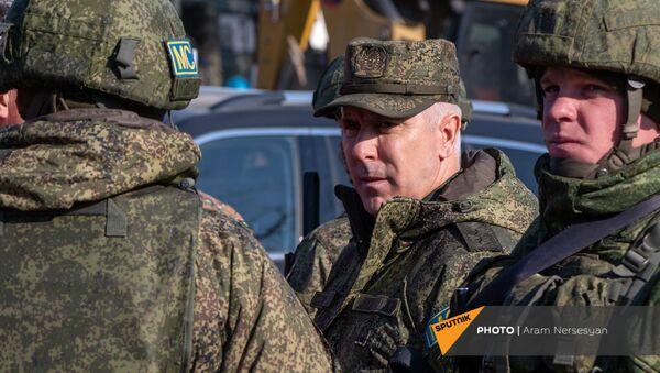 Блокпост российских миротворческих сил в Лачинском коридоре (17 ноября 2020). Карабах - Sputnik Армения