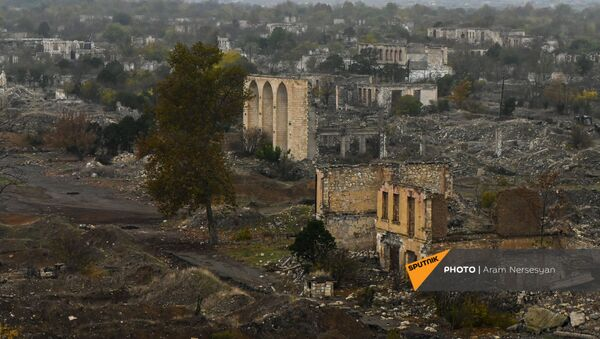Агдам перед сдачей территорий азербайджанской стороне (19 ноября 2020). Карабах - Sputnik Արմենիա