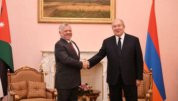 Президент Армен Саркисян встретится с Его Величеством Абдаллой II ибн Хусейном, королем Иорданского Хашимитского Королевства - Sputnik Արմենիա