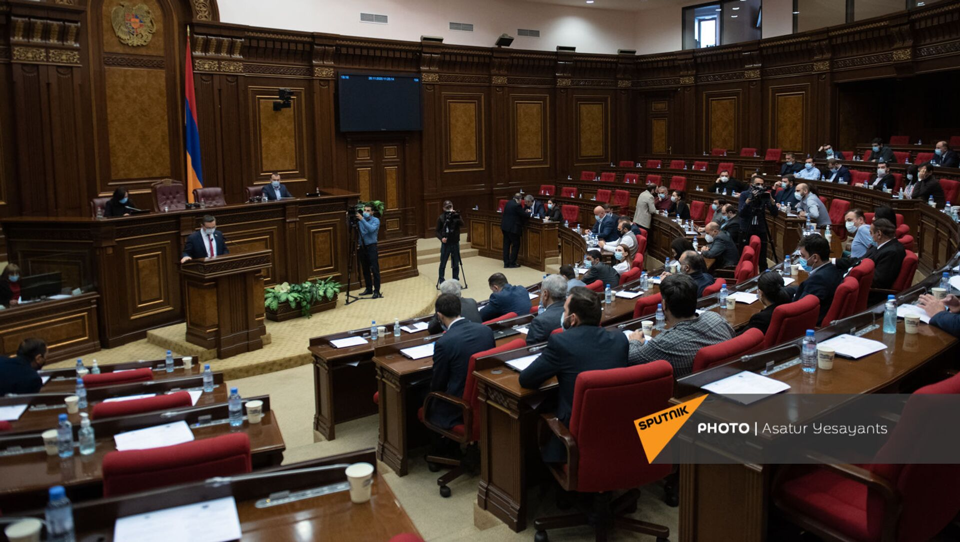 Внеочередное заседание Парламента Армении (26 ноября 2020). Еревaн - Sputnik Արմենիա, 1920, 20.05.2021