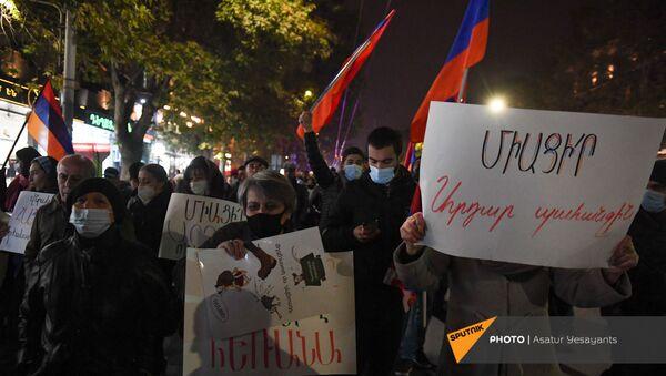 Акция протеста с требованием отставки премьер-министра (2 декабря 2020). Еревaн - Sputnik Արմենիա