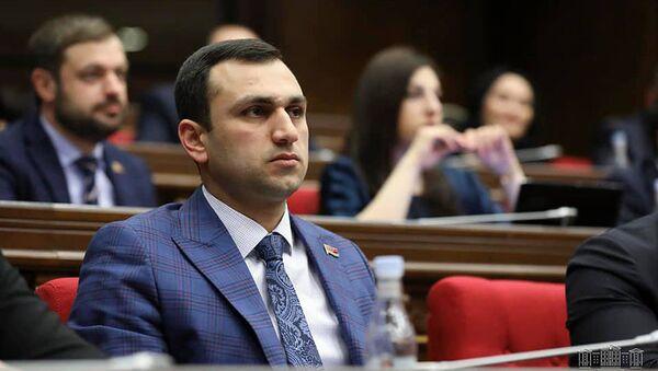 Депутат от фракции Мой шаг Аргишти Мехакян на очередном заседании Национального Собрания Армении (4 марта 2020). Еревaн - Sputnik Армения