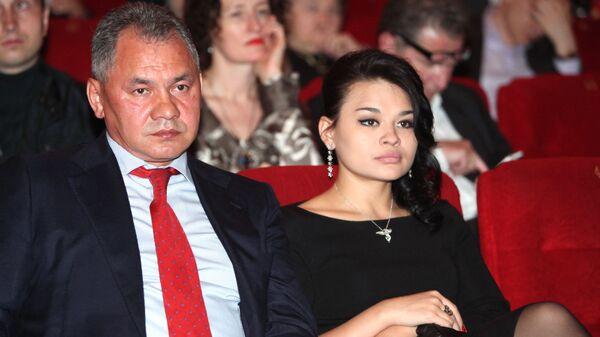 Министр обороны РФ Сергей Шойгу с дочерью Ксенией - Sputnik Армения