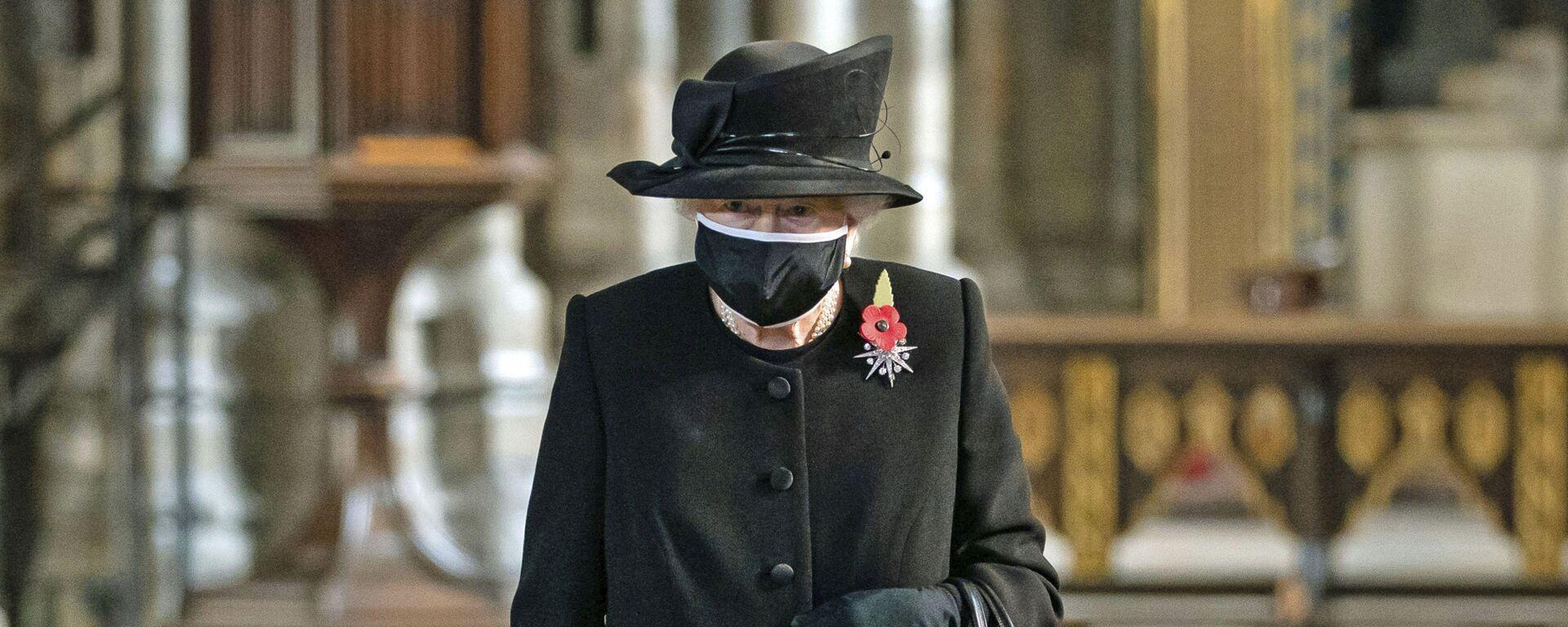 Королева Великобритании Елизавета II на церемонии в Вестминстерском аббатстве - Sputnik Արմենիա, 1920, 06.03.2021