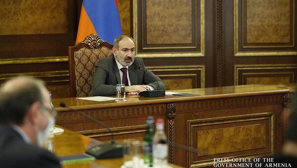 Премьер-министр Никол Пашинян на заседании Совета безопасности (13 декабря 2020). Еревaн - Sputnik Армения