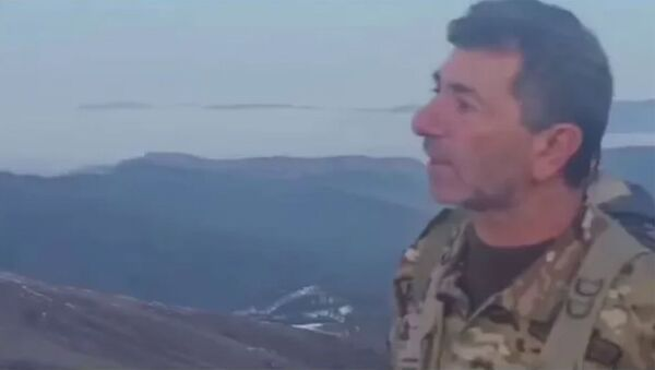 Нагорный Карабах. Защитники Арцаха: добровольцы на одной из позиций обращаются к нашему народу - Sputnik Армения