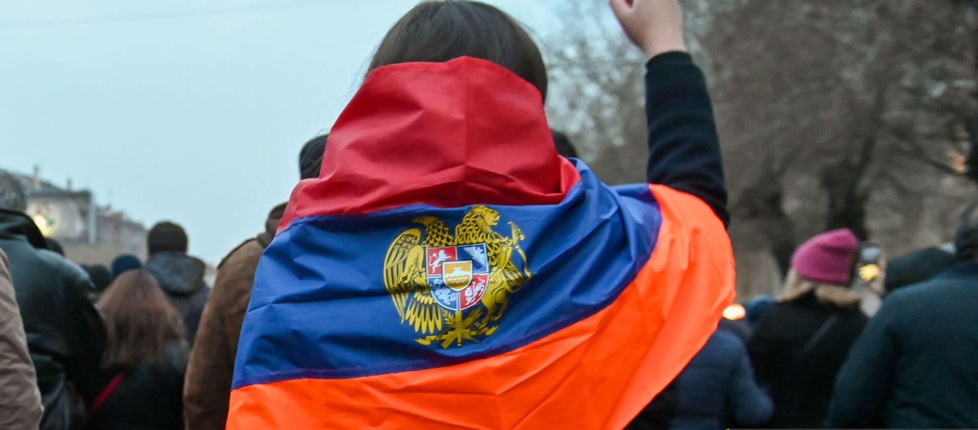 Шествие оппозиции с требованием отставки правительства Армении во главе с премьер-министром (14 декабря 2020). Еревaн - Sputnik Արմենիա, 1920, 15.07.2021