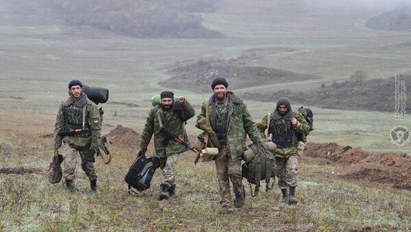 Пересменка резервистов и добровольцев, вовлеченных в охрану государственной границы, в одной из воинских частей (15 декабря 2020). Армения - Sputnik Արմենիա