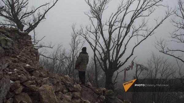 Мужчина в селе Тагавард Мартунинского района (11 декабря 2020). Карабах - Sputnik Армения