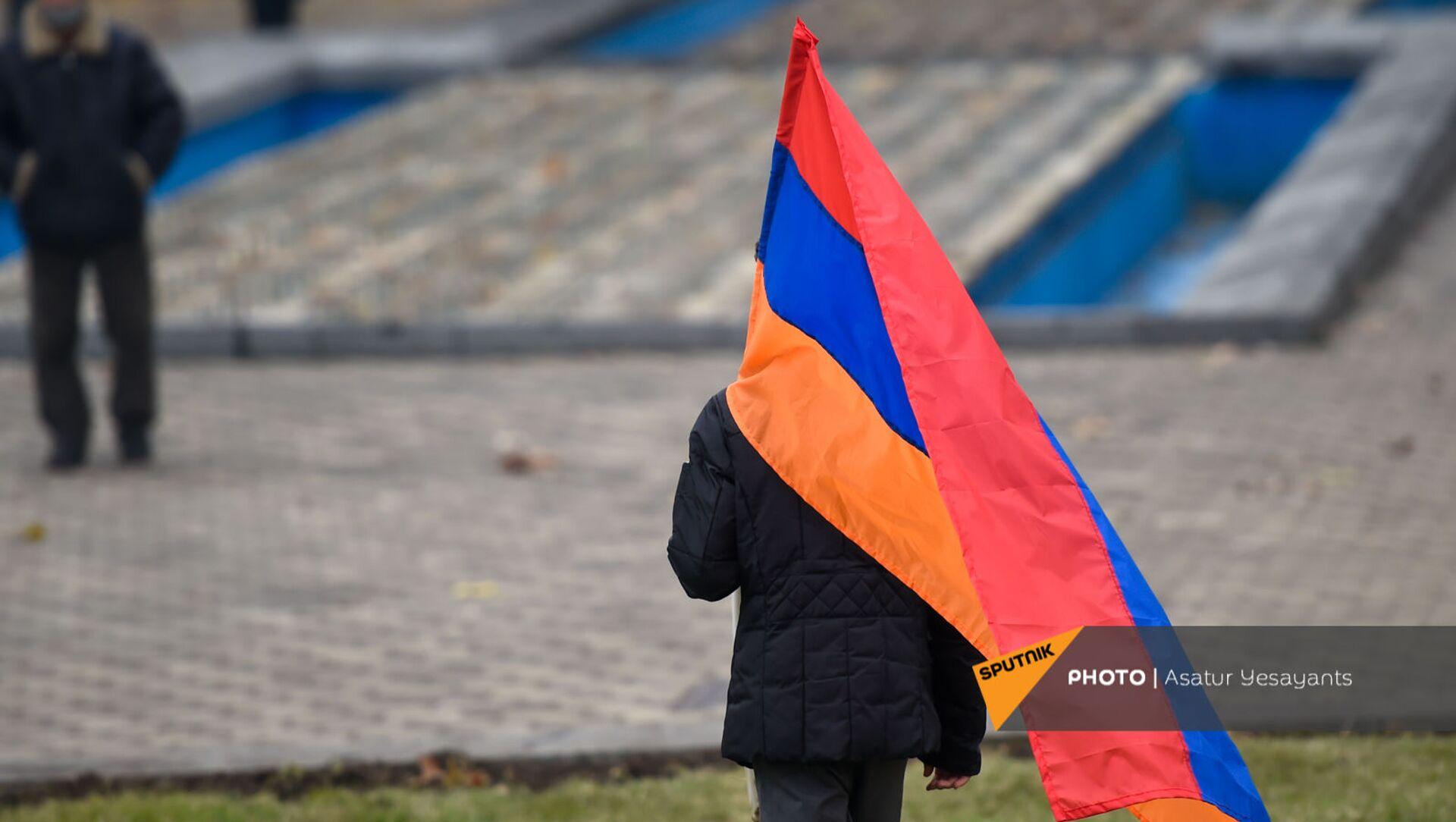 Митинг оппозиции на площади Республики (22 декабря 2020). Еревaн - Sputnik Արմենիա, 1920, 05.03.2021