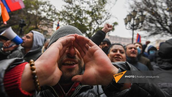 Митинг оппозиции (22 декабря 2020). Еревaн - Sputnik Армения