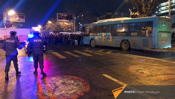 Ситуация у площади Республики (24 декабря 2020). Еревaн - Sputnik Армения