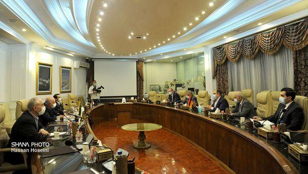 Делегация во главе с заместителем министра территориального управления и инфраструктуры РА Акопом Варданяном провела ряд встреч в Тегеране (27 дукабря 2020). Иран - Sputnik Армения