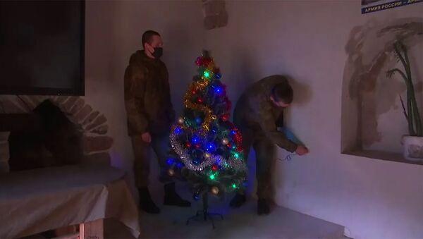 Подготовка к Новому году на наблюдательных постах миротворческих сил РФ в Нагорном Карабахе - Sputnik Արմենիա