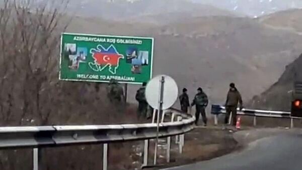 Азербайджанцы на трассе Горис-Мегри - Sputnik Արմենիա