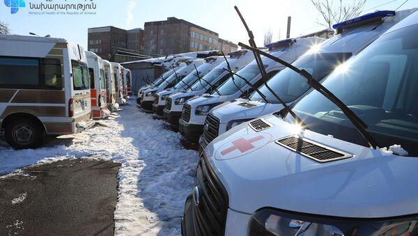 Автомобили скорой помощи для больных коронавирусом - Sputnik Արմենիա