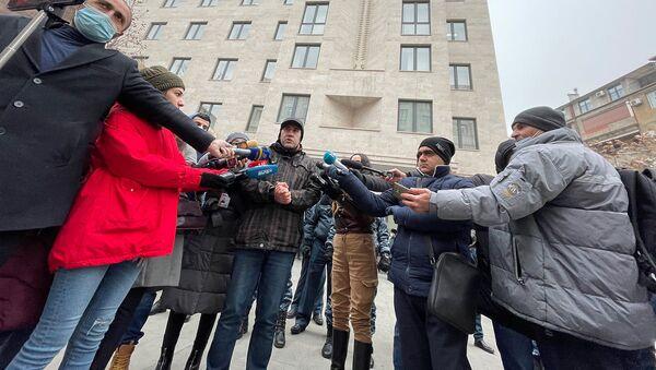 Акция протеста перед министерством юстиции Армении (8 января 2020). Еревaн - Sputnik Армения