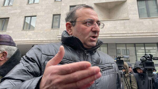Акция протеста перед министерством юстиции Армении (8 января 2020). Еревaн - Sputnik Արմենիա