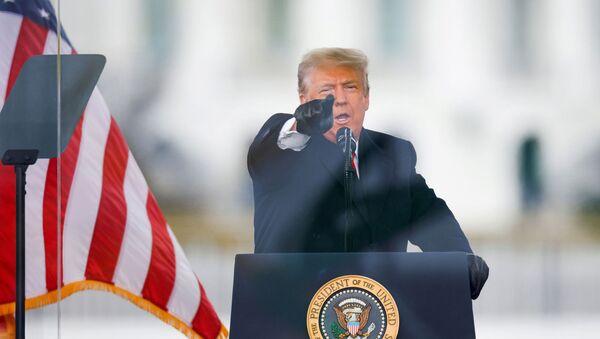 Президент США Дональд Трамп на митинге против утверждения Конгрессом США результатов выборов 2020 года (6 января 2021). Вашингтон - Sputnik Արմենիա