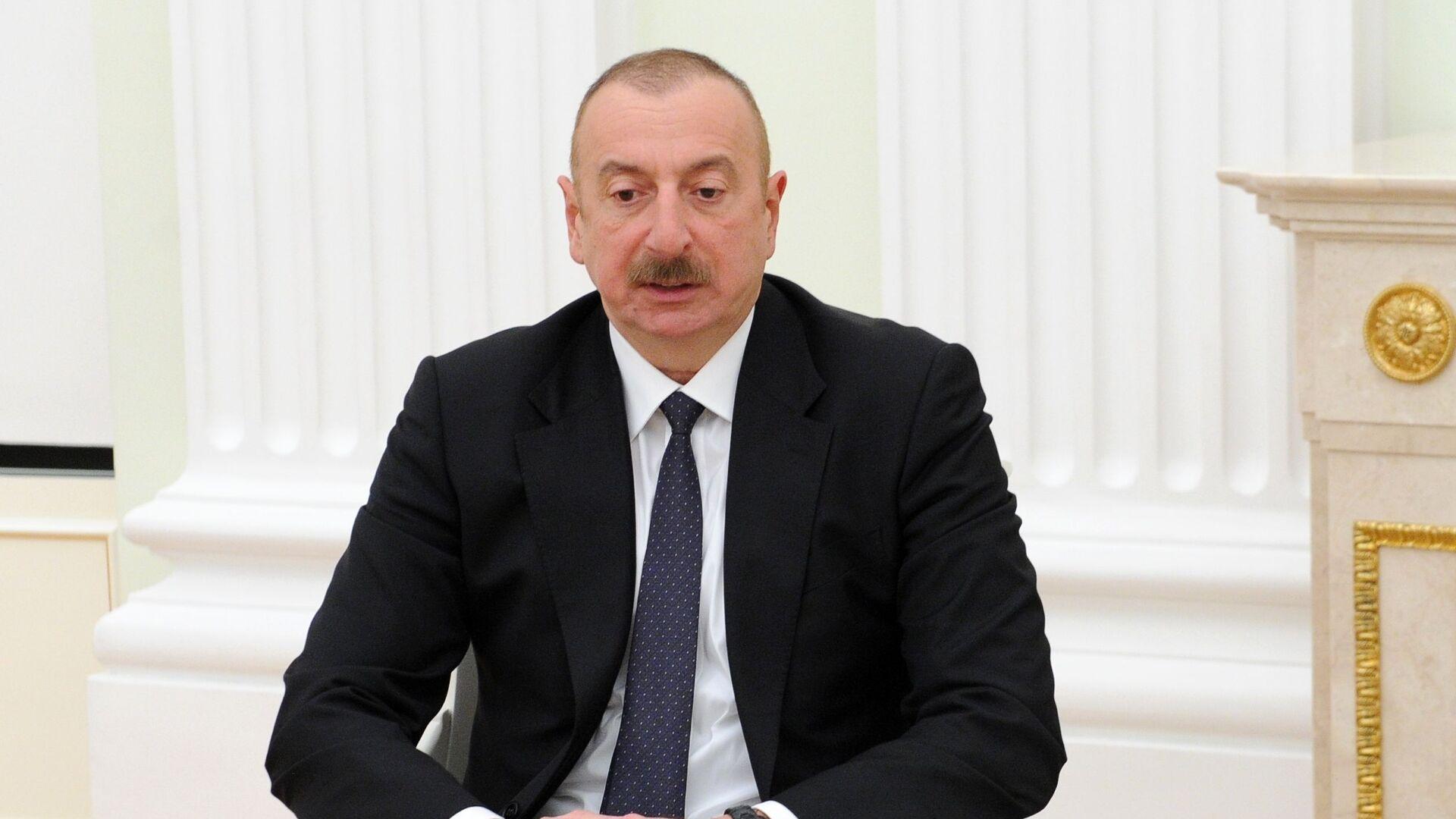 Президент Азербайджана Ильхам Алиев  - Sputnik Армения, 1920, 27.09.2021
