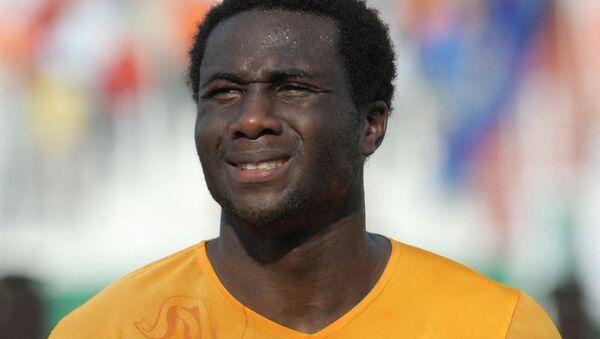 Игрок сборной Кот-Д'Ивуара Сол Бамба во время матча чемпионата мира по футболу FIFA 2010 против Гвинеи (14 ноября 2009 ) Абиджан - Sputnik Армения