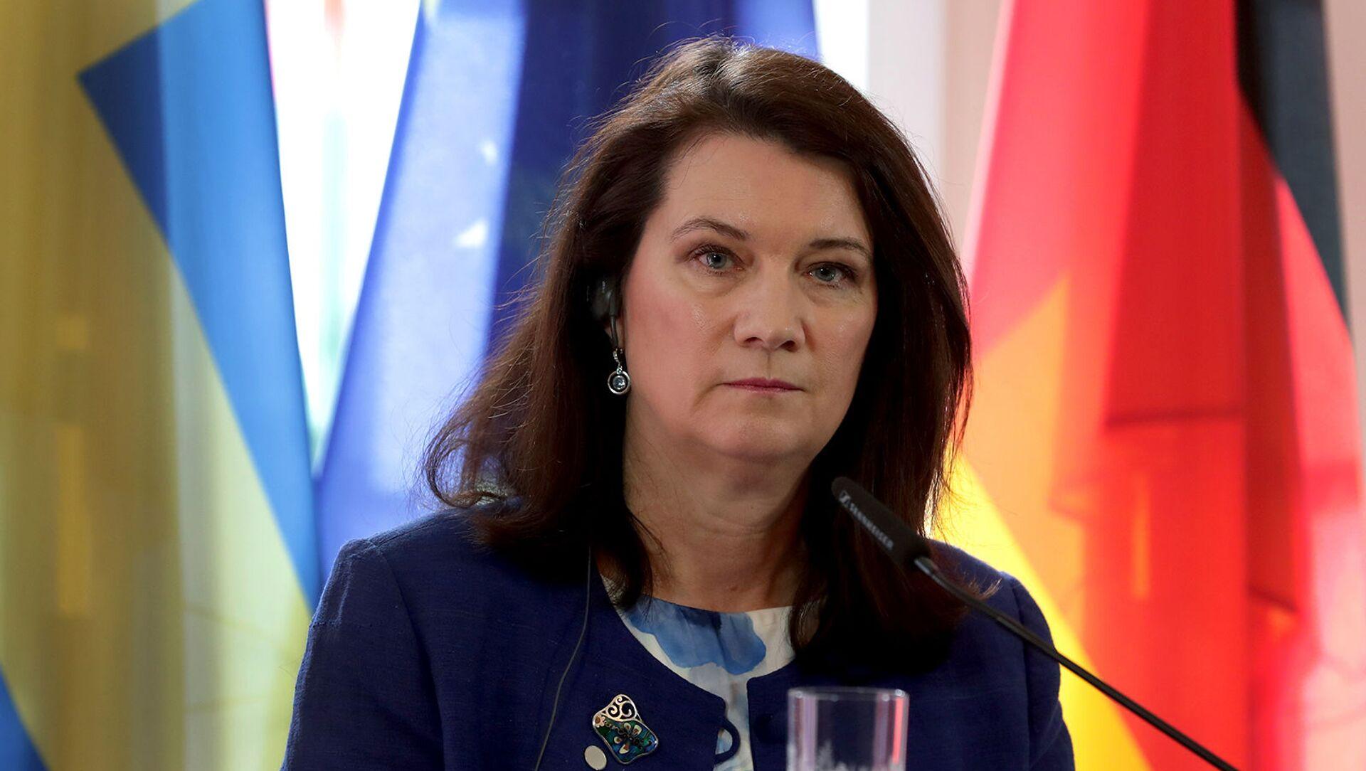 Министр иностранных дел Швеции Анн Линде на совместной пресс-конференции с главой МИД Германии (25 февраля 2020). Берлин - Sputnik Армения, 1920, 10.03.2021