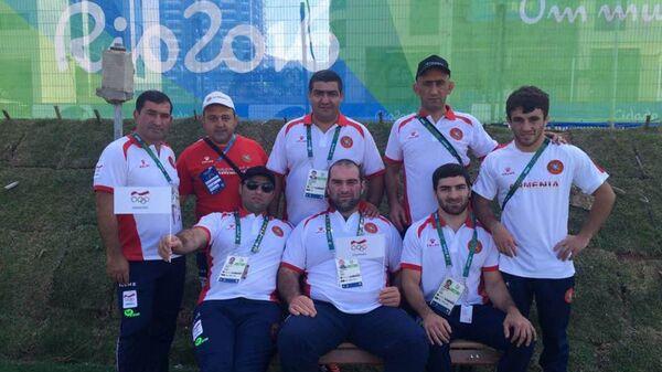 Члены сборной Армении по борьбе в олимпийской деревне в Рио-де-Жанейро - Sputnik Արմենիա