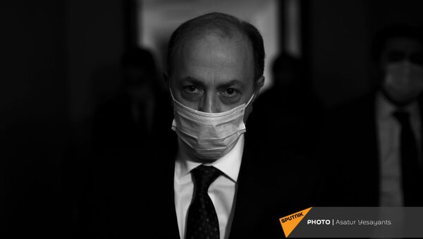 Глава МИД Армении Ара Айвазян перед началом заседания постоянной парламентской комиссии по внешним связям (14 января 2021). Еревaн - Sputnik Армения