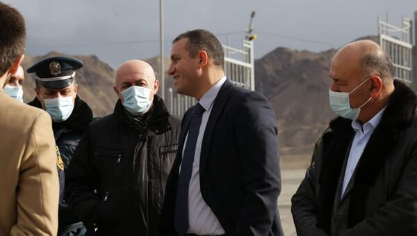 Министр экономики Ваан Керобян постил свободную экономическую зону (18 января 2021). Мегри - Sputnik Արմենիա