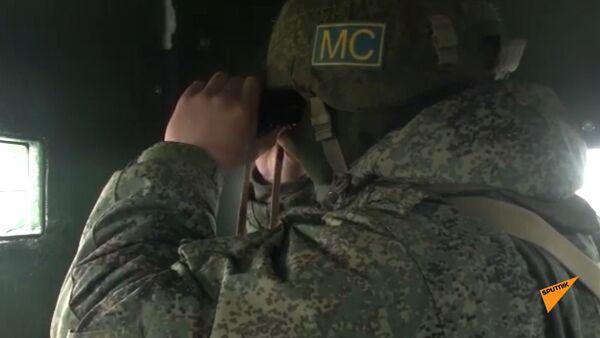 Тренировка на постах российского миротворческого контингента в Карабахе - Sputnik Армения