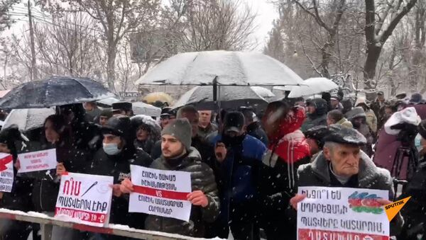 Акция у здания суда - Sputnik Армения