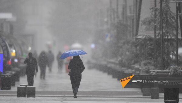 Снегопад в столице (19 января 2021). Еревaн - Sputnik Արմենիա