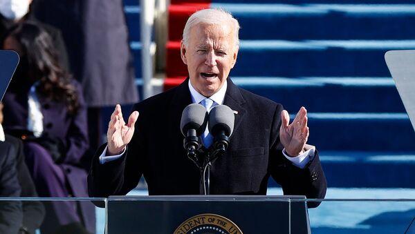 Президент США Джо Байден произносит свою речь после того, как он был приведен к присяге в Капитолии (20 января 2021). Вашингтон - Sputnik Армения