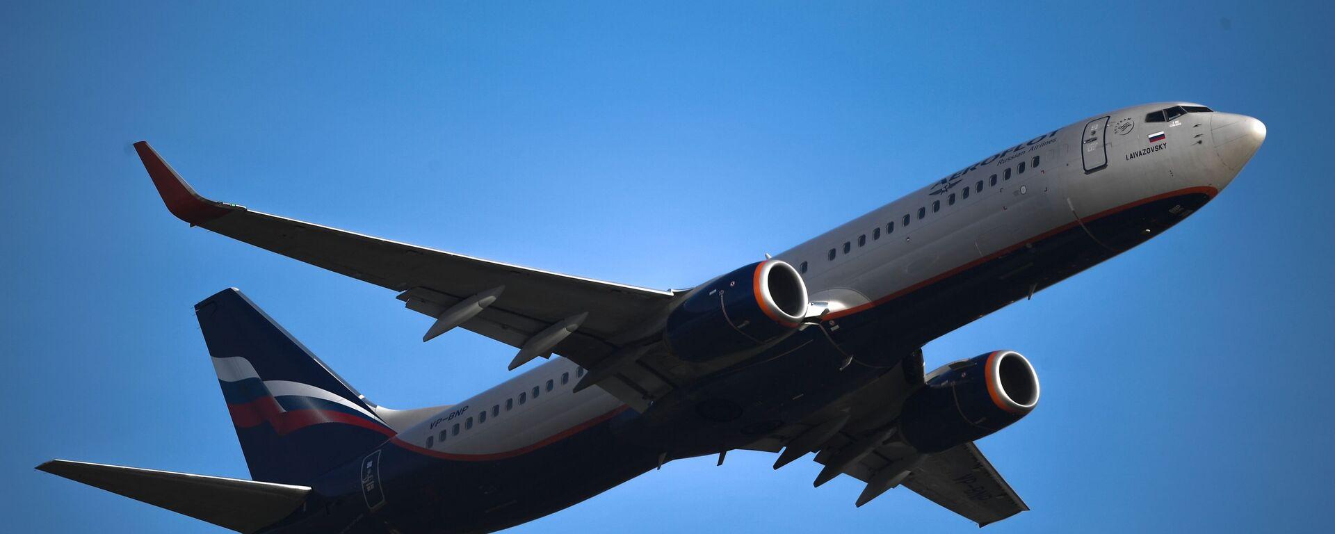 Взлет самолета Boeing737 авиакомпании Аэрофлот из аэропорта Шереметьево - Sputnik Արմենիա, 1920, 19.04.2021