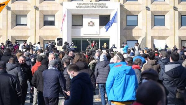 Акция против ограничений из-за пандемии коронавируса (24 января 2021). Тбилиси - Sputnik Արմենիա