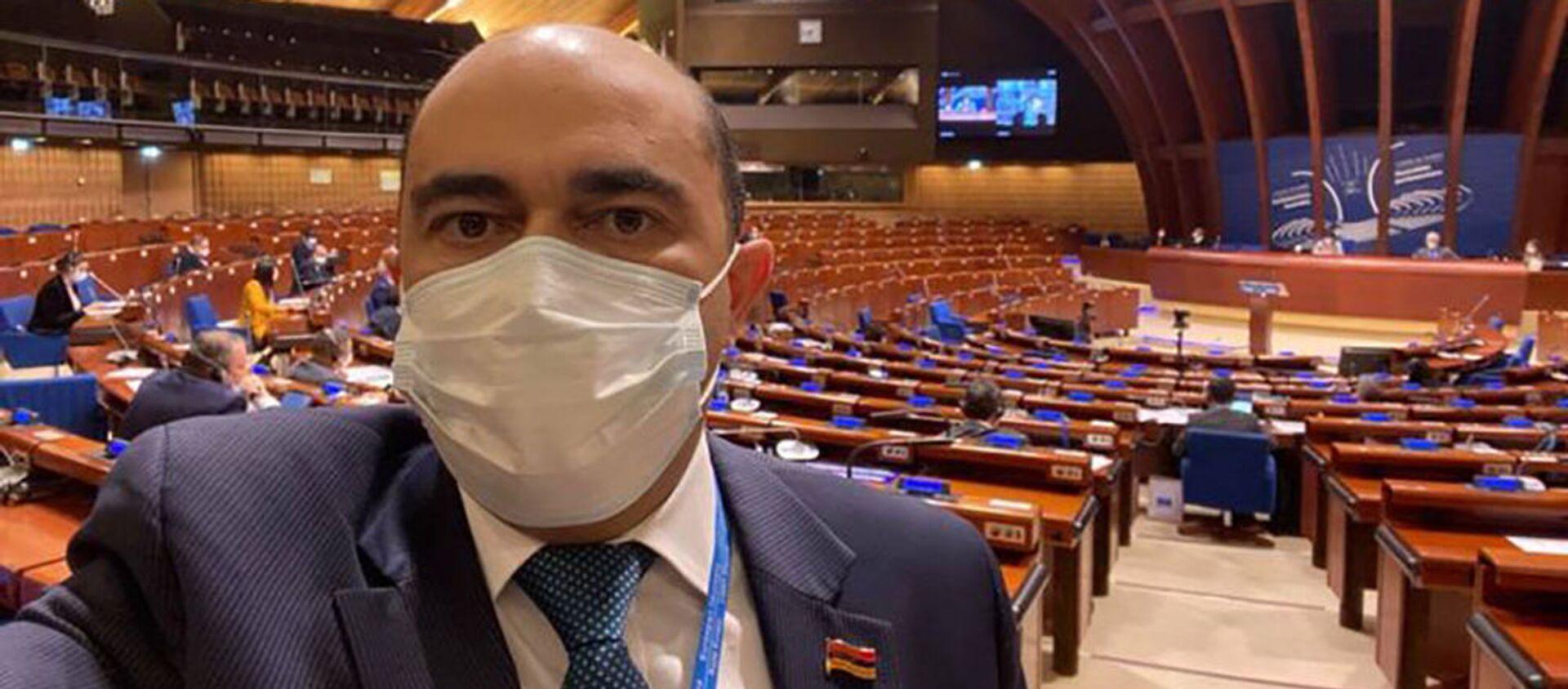 Эдмон Марукян после пленарного заседания Парламентской ассамблеи Совета Европы (25 января 2021). Марсель - Sputnik Արմենիա, 1920, 21.06.2021