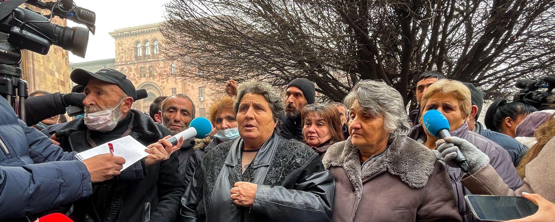 Ситуация у здания Правительства на площади Республики во время акции протеста (29 января 2021). Еревaн - Sputnik Армения, 1920, 29.01.2021