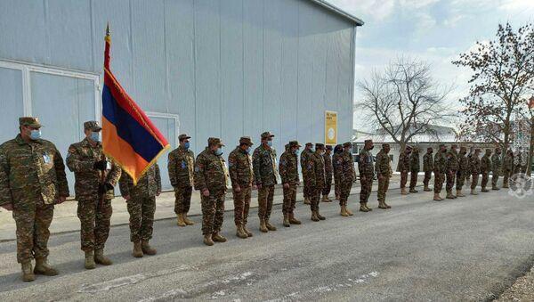 Торжественное мероприятие армянских миротворцев по случаю 29-летия армянской армии (29 января 2021). Косово - Sputnik Արմենիա