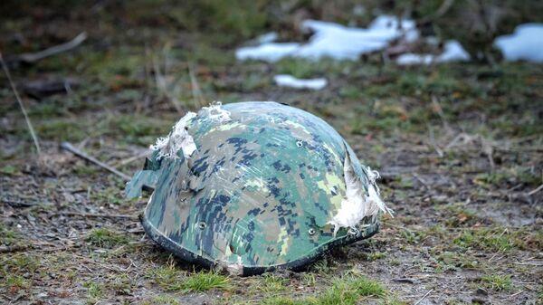 Защитный шлем азербайджанского военнослужащего. - Sputnik Армения
