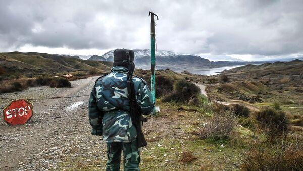 Военнослужащий пограничных войск Азербайджана - Sputnik Արմենիա