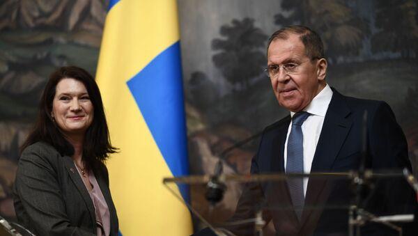 Встреча глав МИД РФ и Швеции С. Лаврова и  А. Линде - Sputnik Армения