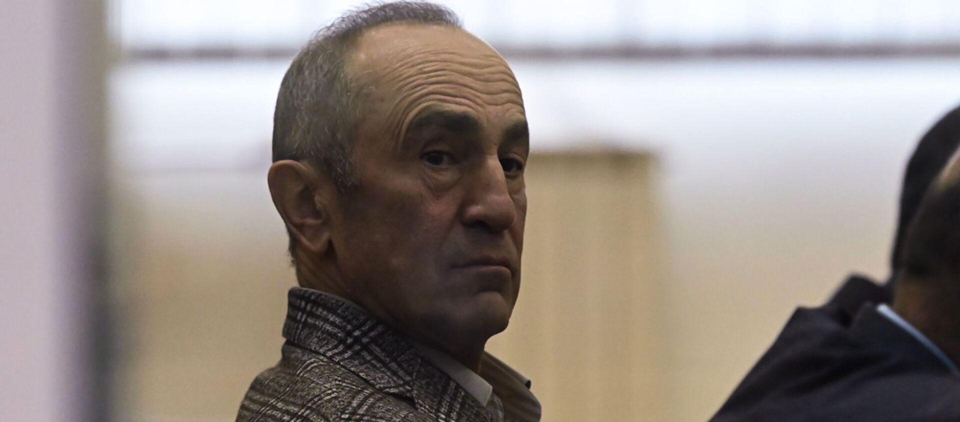 Роберт Кочарян в зале Шенгавитского суда (2 февраля 2021). Еревaн - Sputnik Армения, 1920, 24.08.2021