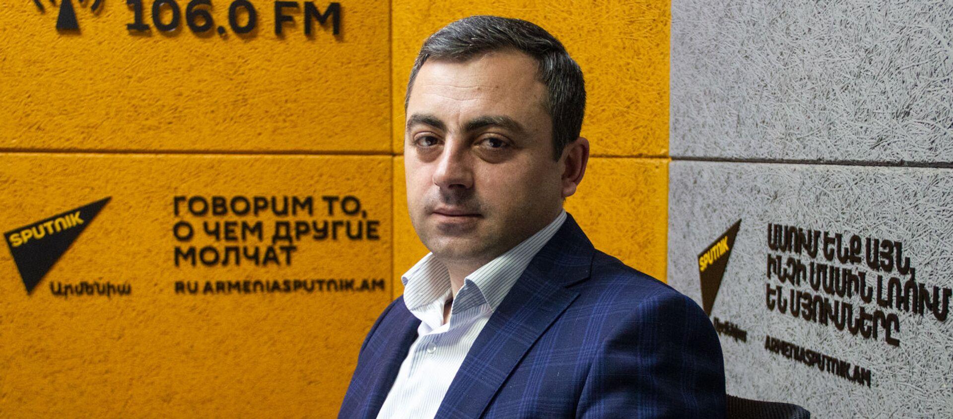 Лидер АРФ  Дашнакцутюн Ишхан Сагателян в гостях радио Sputnik  - Sputnik Արմենիա, 1920, 29.06.2021