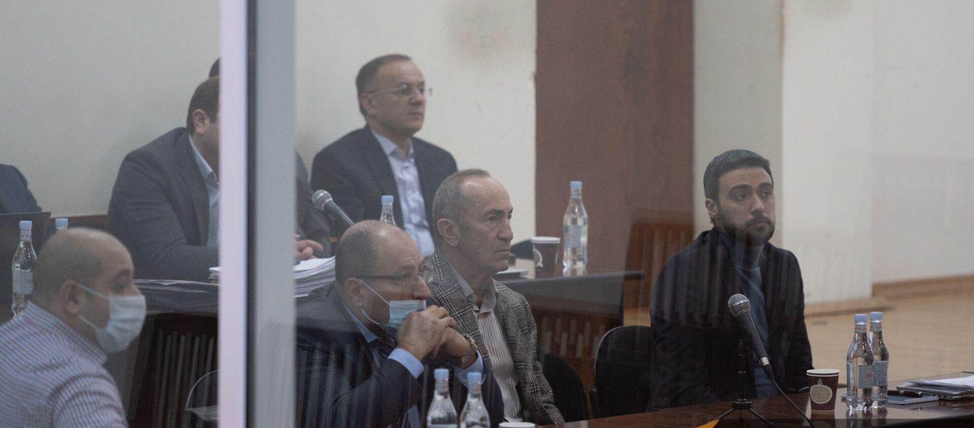 Роберт Кочарян в зале Шенгавитского суда (2 февраля 2021). Еревaн - Sputnik Արմենիա, 1920, 02.02.2021