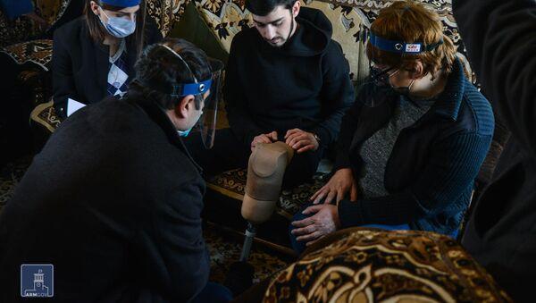 Работы по обеспечению нужд получивших ранения и увечья в карабахской войне военнослужащих (3 февраля 2021). Еревaн - Sputnik Армения