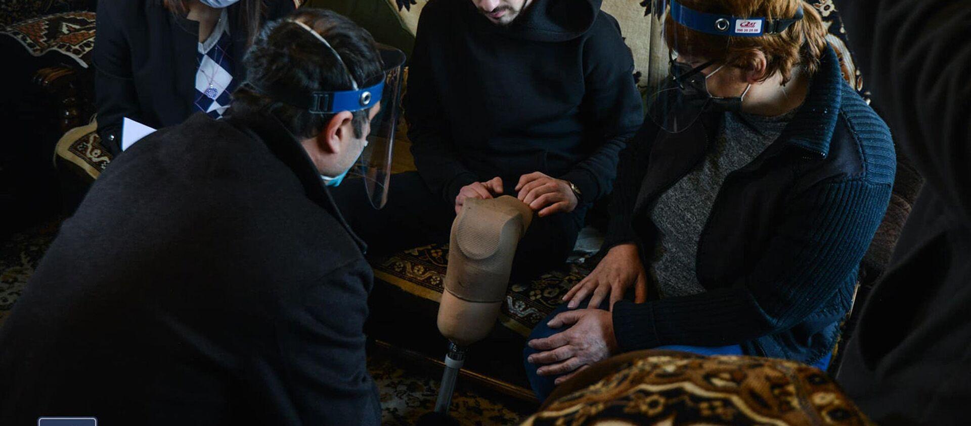 Работы по обеспечению нужд получивших ранения и увечья в карабахской войне военнослужащих (3 февраля 2021). Еревaн - Sputnik Армения, 1920, 20.02.2021