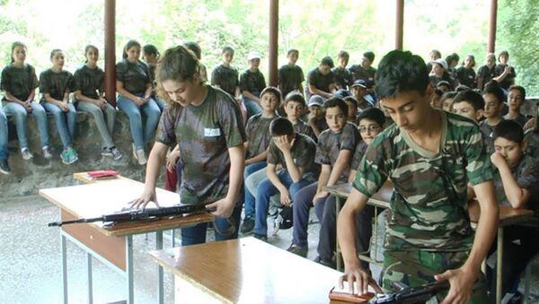Военно-тренировочные сборы для учащихся 11 классов - Sputnik Արմենիա